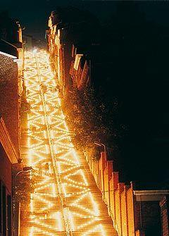 Escaliers de Bueren © Alain Junckers, la nuit des cotaux de la Citadelle - Liège, Belgium