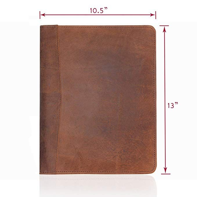 Leather Portfolio Professional Resume Padfolio Document Folder Organizer Folio For Lette Leather Portfolio Document Folder Organization Folder Organization
