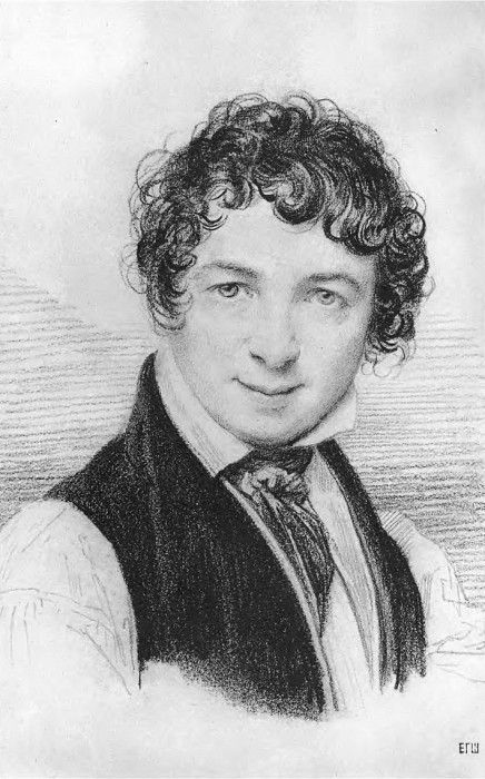Автопортрет. Рис. для автопортрета маслом. 1828