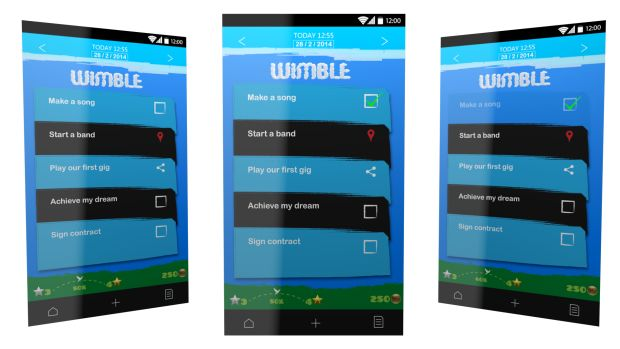 Bored of long to-do lists? Not really getting things done? Bored of switching between different time management applications? Not finding the one which would truly make your life easier? We believe #motivation and #encouragement plays huge role in people's lives.  We will bring these elements into your #life with Wimble! #gtd #timemanagement #crowdfunding #indiegogo #mobileapps #awesome