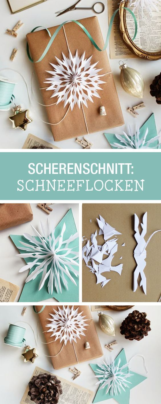 Inspiration for paper cutting: cut snowflakes as decoration for Christmas …