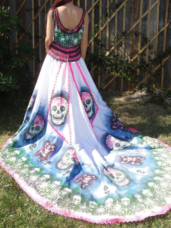 Skull Wedding Dress - Wedding Photography