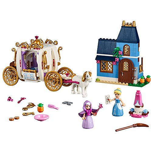 LEGO Cinderella's Enchanted Evening 41146 Building Kit (350 Piece) - Reenact scenes from the iconic Disney movie, Cinderella, with this easy-to-build model. Play with Cinderella in her house with kitchen and upstairs sleeping area. Then change her into her ball gown and go to the ball in the carriage—and take off the roof for easy play inside with 2 seats fo...