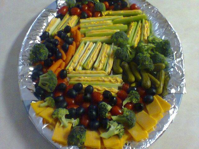 Vegetable Tray display