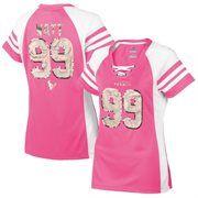 Women's Houston Texans JJ Watt Majestic Pink Draft Him IV T-Shirt
