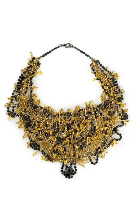 Black & Gold necklace from Tom Binns