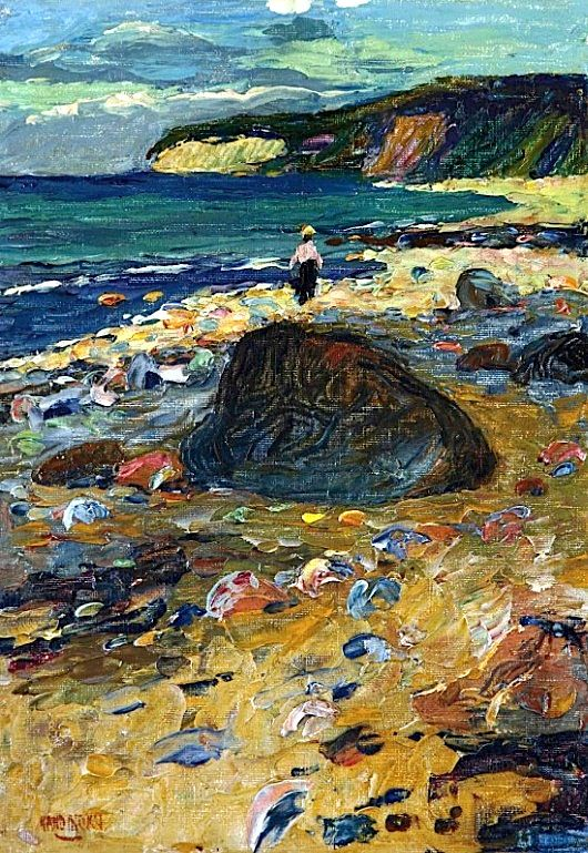 Wassily Kandinsky (1866-1944)  Binz auf Rugen. Binz features in the book I'm writing on Anna Skrainka.