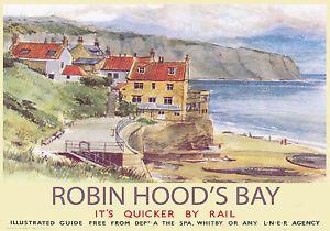 robin hoods bay railway poster