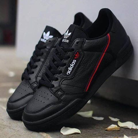 new style fe3fd 7737c Adidas Continental 80 Black