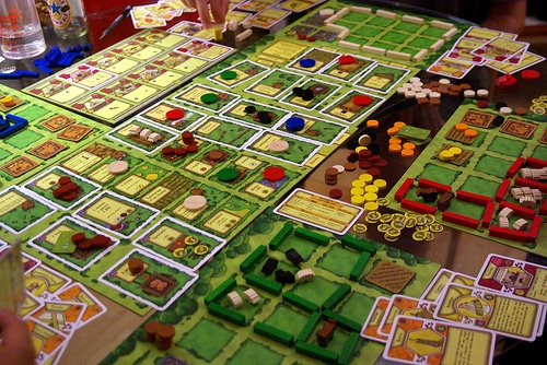Agricola board game, it takes up a LOT of room!
