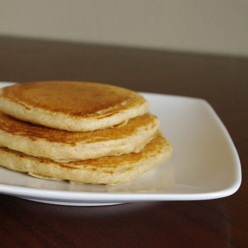 Spelt Pancakes// I made this by adding a plenty of coco powder to make the flavor chocolate. This is not GF.