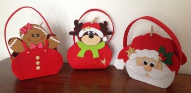 Borsette natalizie porta dolci