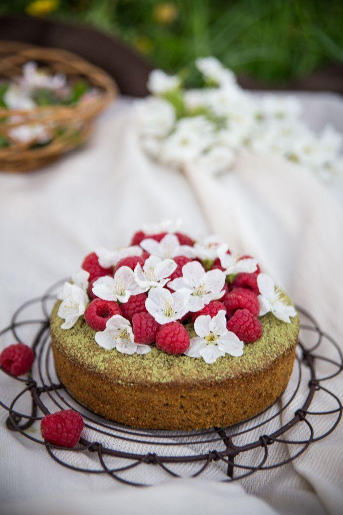 Sladká tortička s matcha