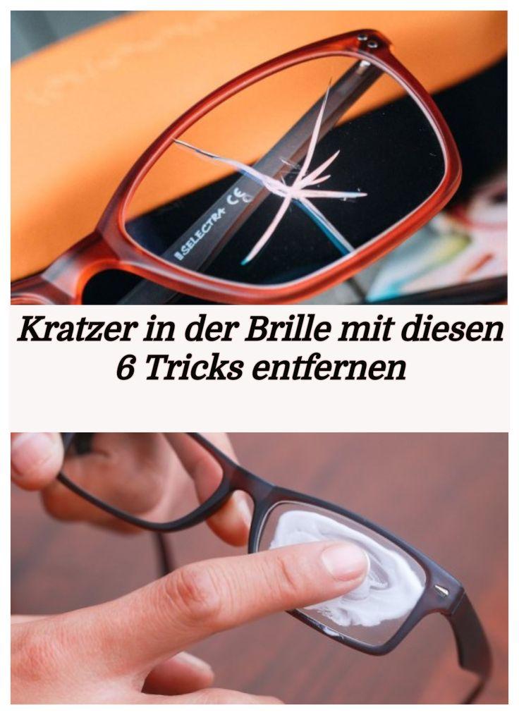 Kratzer in der Brille mit diesen 6 Tricks entfernen  – Kitty