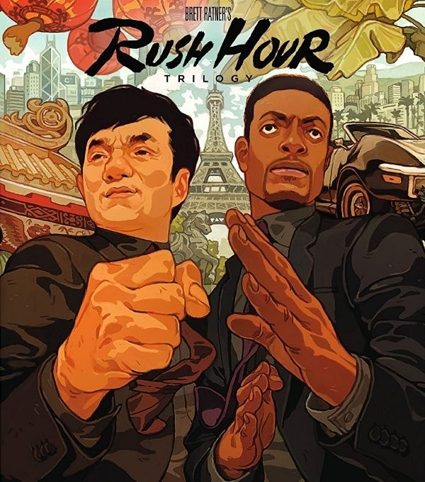 The Rush Hour Trilogy cover art is great