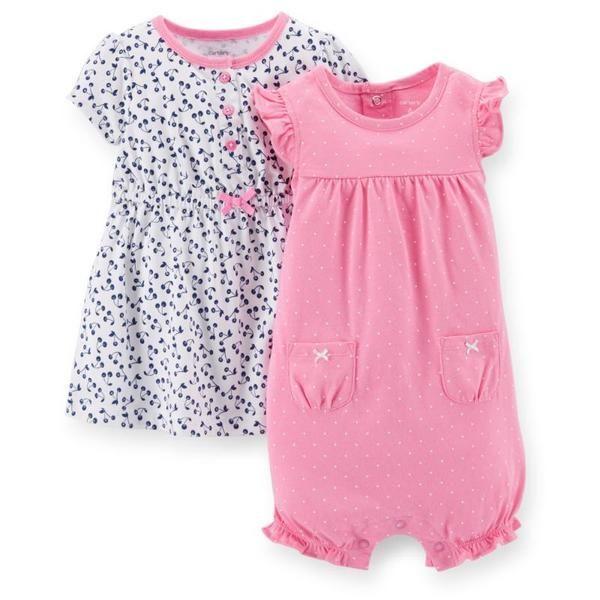 美國代購童裝Carter's卡特2015春夏款小童新生兒女寶3件組套裝+褲