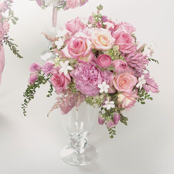 Kelowna Flowers :: Kelowna Florist :: Burnett's Florist :: Kelowna BC - Pink Rose, Stephanotis and Hyacinth Bouquet