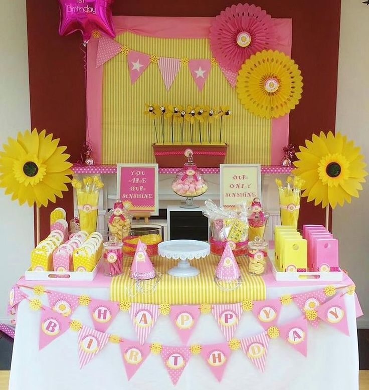 Little Miss Sunshine first birthday - Easy Breezy Parties (Melb)