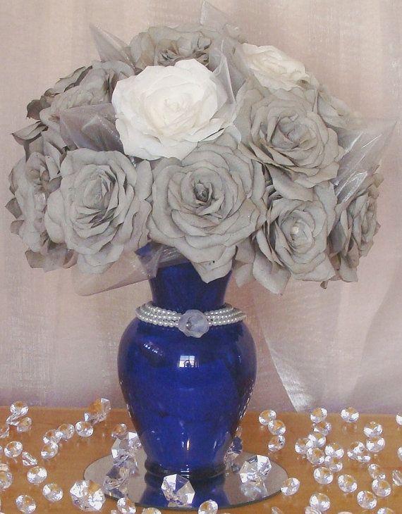 17 Best Ideas About Royal Blue Centerpieces On Pinterest