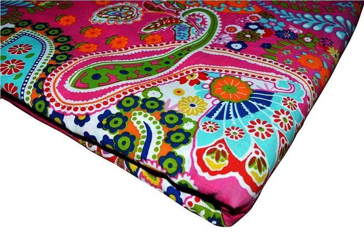 Indian Natural Cotton Screen Paisley Print Dress Fabric Jaipuri Fabric 10 Yard  #Handmade