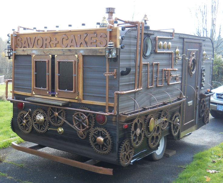 steampunk food cart for sale - ArtisanCakeCompany