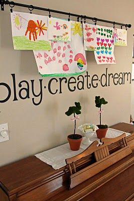 This is a great idea Jamie. I have so many empty walls and I always feel guilty getting rid of my kids art work.  Win- Win