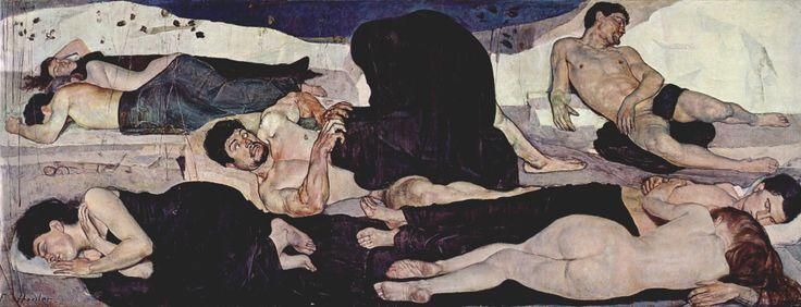 Night by Ferdinand Hodler, 1899