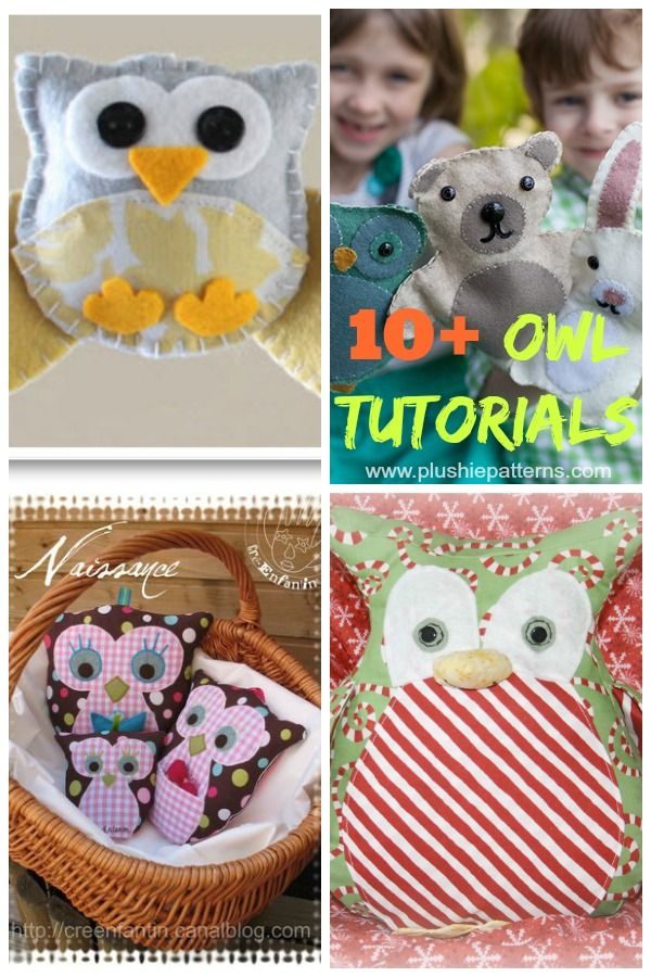 All free and a great variety of super cute and simple owl tutorials. This ones for you Erin!!!!