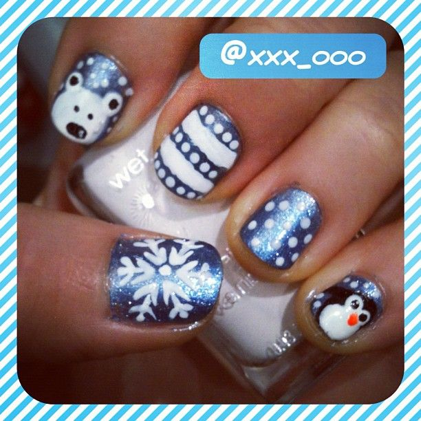 Penguin Nail Art Designs: 1000+ Ideas About Penguin Nail Art On Pinterest