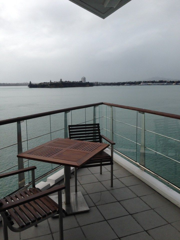 Balcony of the Bow Suite at the Hilton Auckland Hotel, Auckland