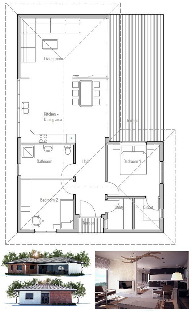 35 best PLANS MAISONS images on Pinterest House blueprints, Small