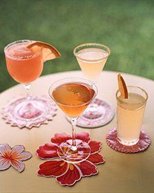 Oilcloth Crafts: Summer Cocktails - Martha Stewart Crafts