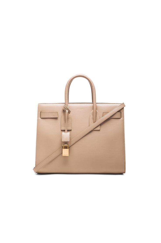 Image 1 of Saint Laurent Small Sac De Jour Carryall Bag in Dark Beige