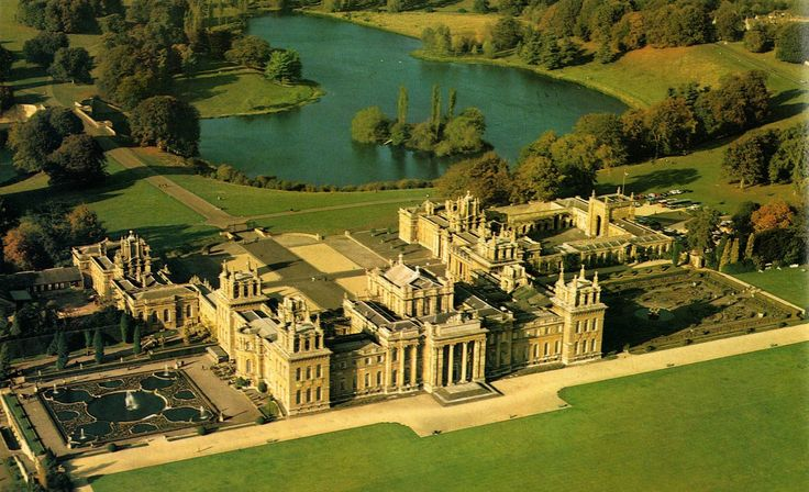 Blenheim Palace - Oxfordshire - England. Winston Churchill was born here and there is a beautiful rose garden.