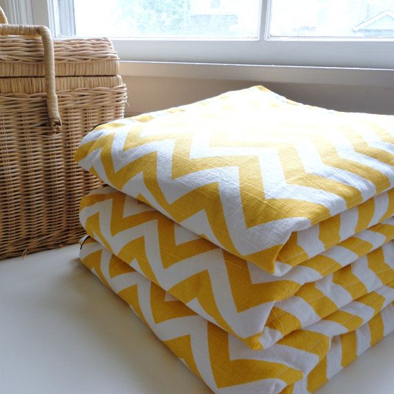 Waterproof Picnic BlanketYellow ChevronExtra by ModernCabin, $155.00