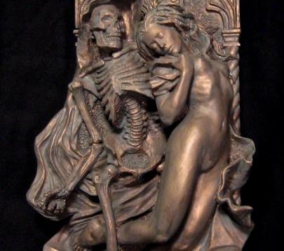 dellamorteco: Chiller Theatres, Art Stuff, Amazing Art, And Macabre, Large Plaque, Dark Side, Dark Castles, Maiden Large, Bronze Patinas