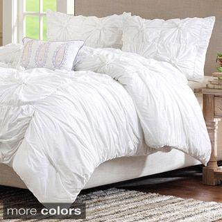 Chic Home 8-Piece Whitley White Bed in a Bag Duvet Set | Overstock.com Shopping - The Best Deals on Bed-in-a-Bag