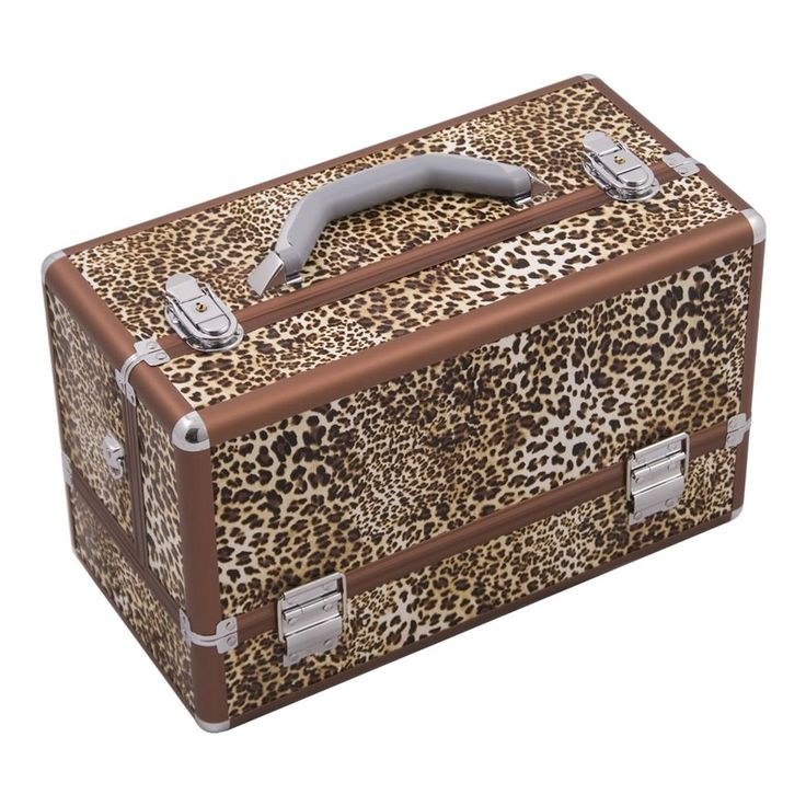 JUSTCASE 3-tiers Accordion Trays Professional Cosmetic Makeup Train Case (