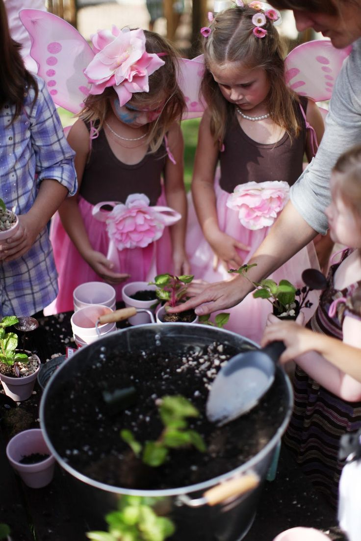 A fairy tea party...someday I will do this for Penny. Girls get fairy wings when they arrive and make little fairy gardens. Joanna Gaines's Blog   HGTV Fixer Upper   Magnolia Homes