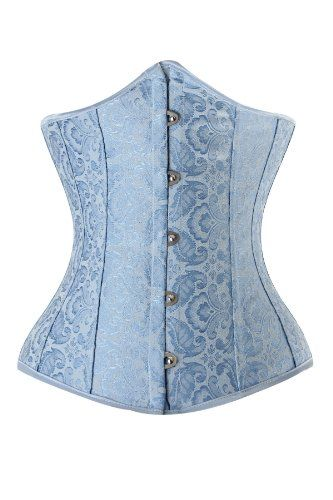 light blue corset light blue underbust corset with jacquard pattern 536