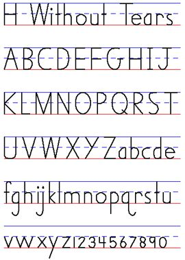 Handwriting Without Tears, Printing - Handwriting Style