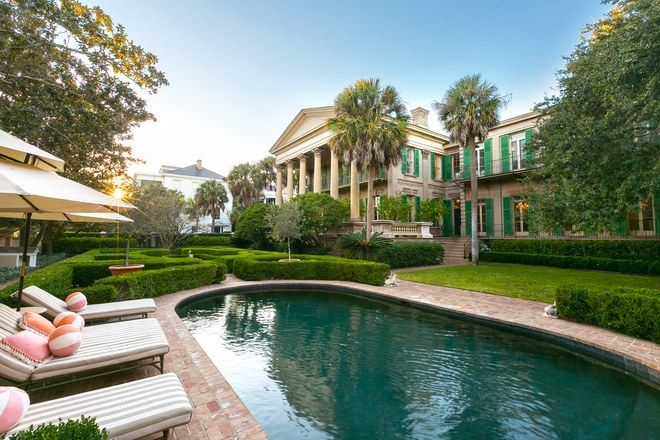 The historic Isaac Jenkins Mikell House in Charleston SC, restored by Patricia Altshul, presently a cast member on Bravo-TV's Southern Charm