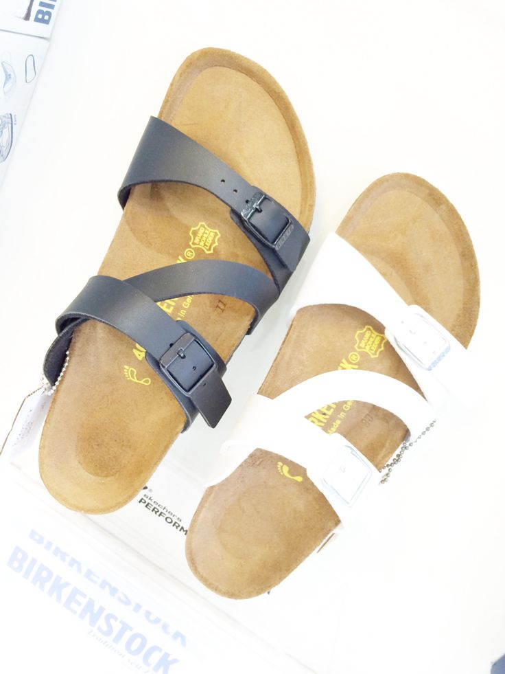 Birkenstock Salina Black and white