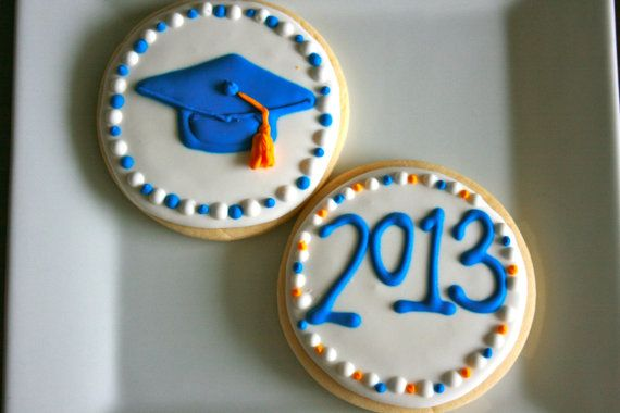 Graduation Sugar Cookies by LolosBakeShop on Etsy, $30.00