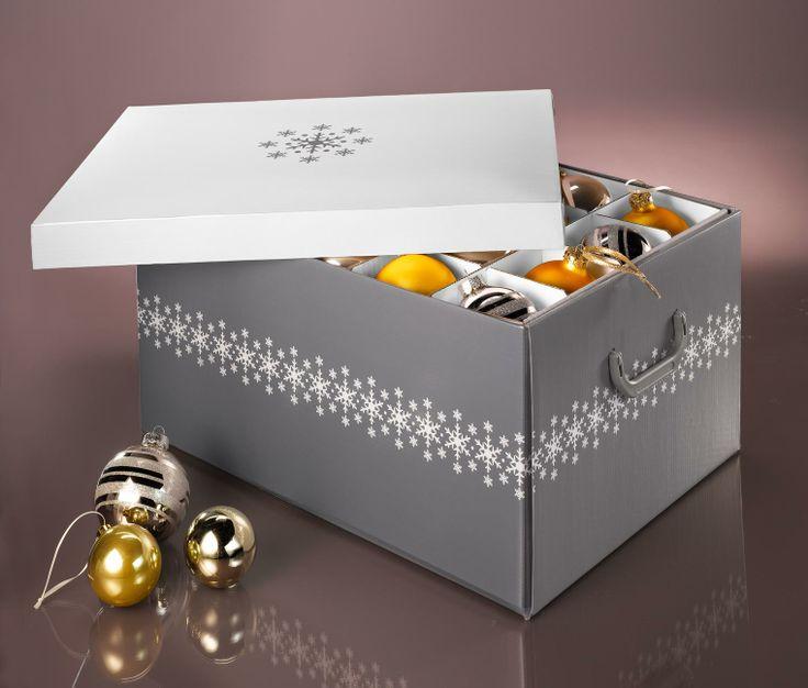 so bleiben die weihnachtskugeln gut verstaut weihnachtsdeko ordnungsbox f r 8 95 bei tchibo. Black Bedroom Furniture Sets. Home Design Ideas