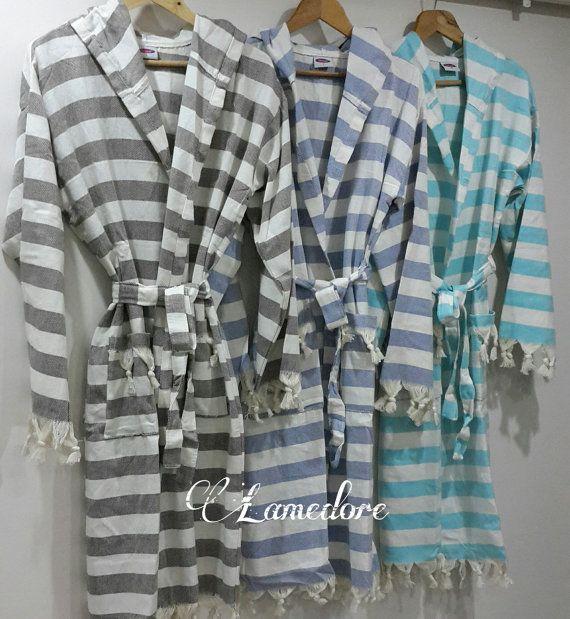 Peshtemal bathrobe Traditional Turkish Peshtemal by LAMEDORE