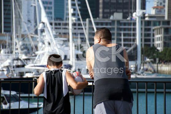 Maori Man and Boy royalty-free stock photo