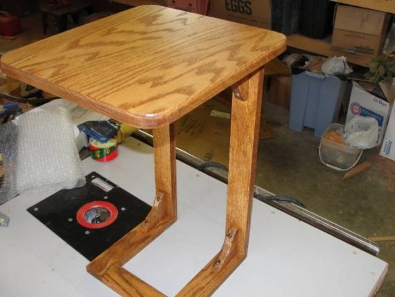 TV table laptop table  Solid Red Oak by aaronhooks on Etsy, $32.00