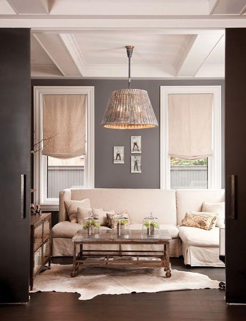 Love the grey walls