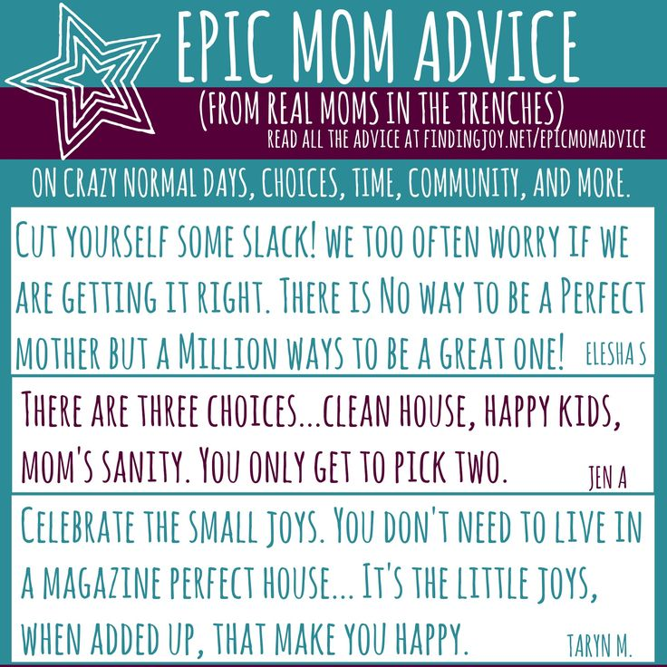 Real Advice. From Real Moms. #findingjoy
